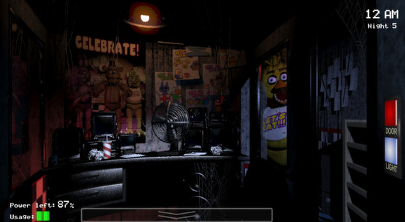 Five Nights at Freddy'sゲーム画面1